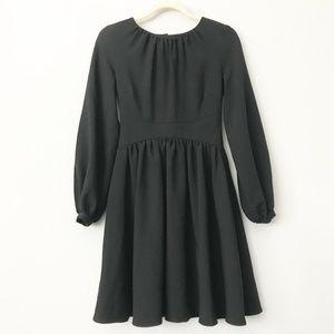 ASOS Long Sleeve Black Skater Dress in Sz 4